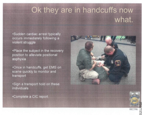 Minneapolis training slide, illustration for piece on George Floyd case
